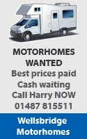 Motorhomes Wanted For Cash!